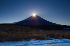 Sunrise at Top of mountain fuji Royalty Free Stock Image