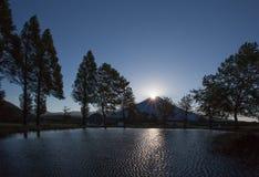 Sunrise at Top of Mt. Fuji at Fumoto para Stock Photos