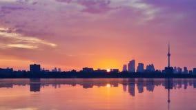 Sunrise in Toronto royalty free stock photos