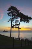 Sunrise on Torquay Stock Image