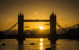 Sunrise at Tower Bridge Royalty Free Stock Image