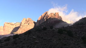 Sunrise at Towers of the Virgin Zion National Park stock video footage