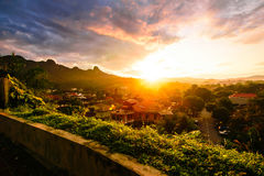 Sunrise at town Stock Photography