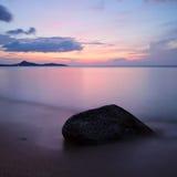 Sunrise at tropical beach. Koh Samui Island, Thailand stock image