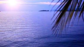 Sunrise at tropical beach, Koh Samui Island,. Thailand. 1920x1080 stock video