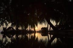 Sunrise at the tropical island. At Maldives royalty free stock photos