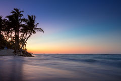 Sunrise on a tropical island Royalty Free Stock Images