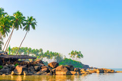 Sunrise on a tropical island Stock Image