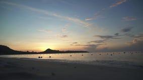 Sunrise at tropical Lamai Beach in Koh Samui Island, Thailand stock footage video stock video