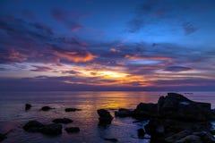 Sunrise Tropical landscape sea Stock Image