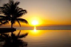 Sunrise in the tropics Stock Photo