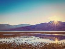 Sunrise at Tso Moriri. Ladakh, India Stock Image