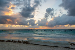 Sunrise in Tulum, Mexico Stock Photos