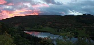 Sunrise on a Tummel loch Stock Photos