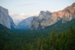 Sunrise at Tunnel View in Yosemite National Park Stock Images