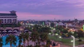 Sunrise in Turkey, Resort area. Timelapse, sunrise in Turkey, Resort area. Belek region stock video footage