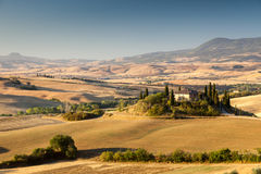 Sunrise in tuscan countryside, Italy Stock Photography