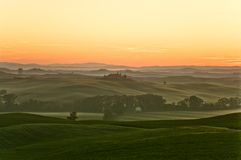 Sunrise in tuscany. A nice view of tuscany landscape Stock Photo