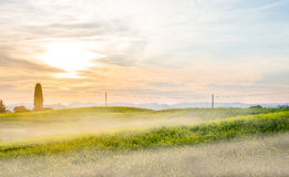 Sunrise in Tuscany Royalty Free Stock Photos