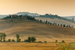 Sunrise in Tuscany Stock Photography