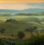 Sunrise in Tuscany Stock Images