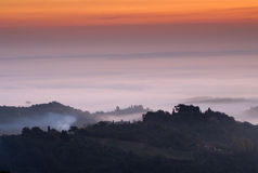 Sunrise, Tuscany, Montepulciano, Italy Royalty Free Stock Photo