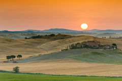 Sunrise in Tuscany Royalty Free Stock Photo