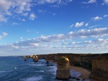 SUNRISE AT TWELVE APOSTLES royalty free stock photo