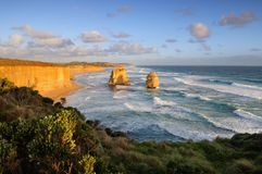 Sunrise at the twelve Apostles Royalty Free Stock Image