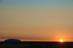 Sunrise at Uluru Stock Images