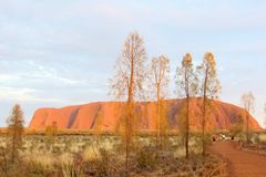 Sunrise at Uluru Ayers Rock, Australia Stock Photos