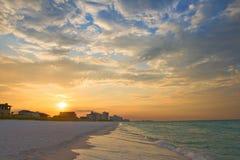 Sunrise under atlantic ocean coast Stock Image
