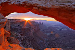 Sunrise under Mesa Arch Stock Images