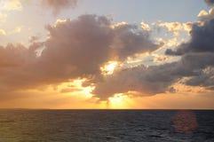 Sunrise under ocean Stock Image