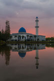 Sunrise At UNITEN Mosque Putrajaya. A beautiful cloudy sunrise at UNITEN Putrajaya Campus, Malaysia Royalty Free Stock Photography