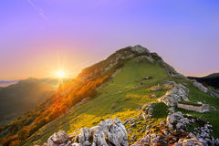 Sunrise in Urkiola mountain range Stock Photography