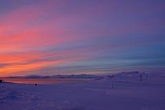 Sunrise at Valley Haukadalur, Iceland Stock Photos