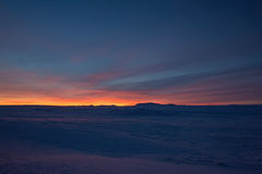 Sunrise at Valley Haukadalur, Iceland Stock Photography