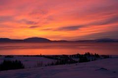Sunrise at Valley Haukadalur, Iceland Stock Photo