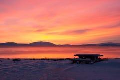 Sunrise at Valley Haukadalur, Iceland Royalty Free Stock Photo