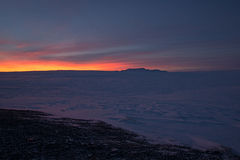 Sunrise at Valley Haukadalur, Iceland Royalty Free Stock Images