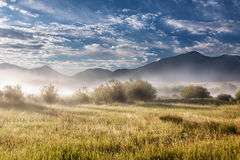 Beyond The Mist, Gardiner Montana (Yellowstone Nat Stock Photo