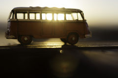 Sunrise through the van Royalty Free Stock Images