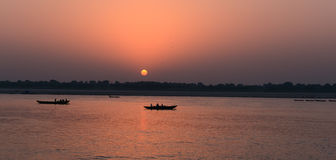 Sunrise At Varanasi Royalty Free Stock Photos