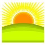 Sunrise vector Royalty Free Stock Image