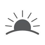 Sunrise. vector logos. Sunset flat icon with horizon. illustration isolated sign symbol Royalty Free Stock Photo
