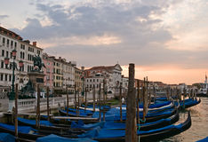 Sunrise at Venice. Venetian promenade at sunrise, Italy Stock Image