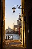 Sunrise in Venice at canal near Academia bridge Royalty Free Stock Photos