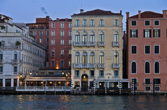 Sunrise in Venice at Grand Canal near Academia bridge Stock Photography