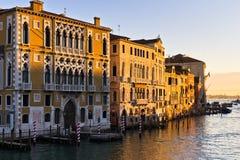 Sunrise in Venice at Grand canal near Academia bridge Stock Image
